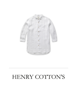 HENRY COTTON'S 클래식 솔리드 린넨 셔츠
