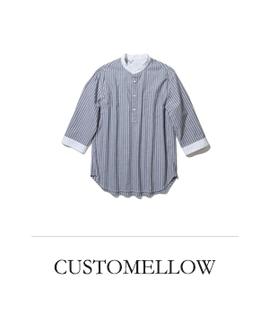 CUSTOMELLOW pullover stripe henly neck 3/4 shirts
