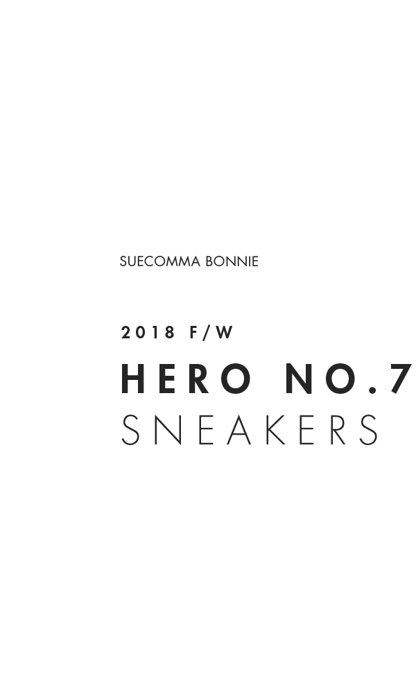 SUECOMMABONNIE 2018FW HERO NO.7 SNEAKERS