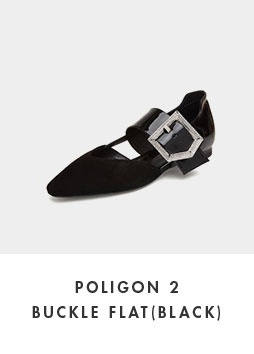 DG1DX18525BLK Poligon 2 buckle flat(black)