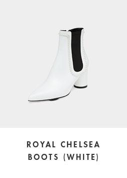 DG3CX18510WHT [Pre-order]Royal chelsea boots(white)