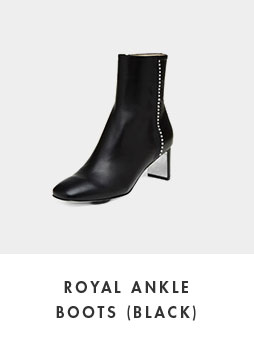 DG3CX18511BLK [Pre-order]Royal ankle boots(black)