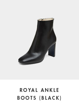 DG3CX18527BLK [Pre-order]Royal ankle boots(black)