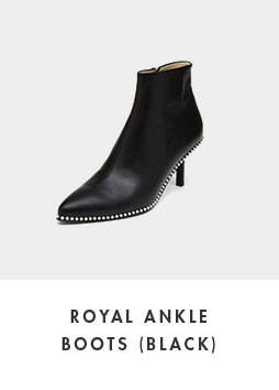 DG3CX18528BLK [Pre-order]Royal ankle boots(black)