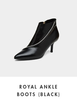 DG3CX18529BLK [Pre-order]Royal ankle boots(black)