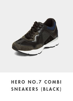 DG4DX18526BLK Hero no.7 combi sneakers(black)