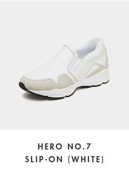 DG4DX18527WHT Hero no.7 slip-on(white)