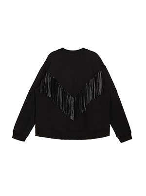 [JDC pour Lucky] Fringe Detail Sweatshirt