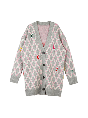 Diamond Pattern Cardigan