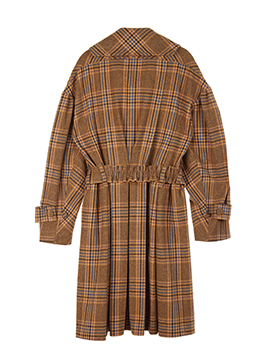 Belted Volume Check Coat