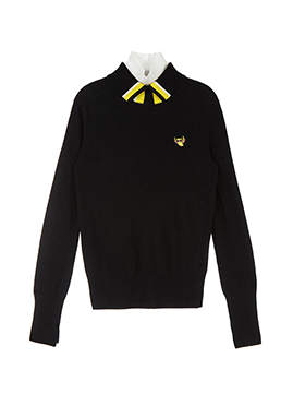 Collar Point Turtle-neck
