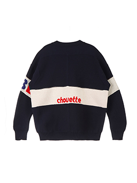 Lettering Colorblock Pullover