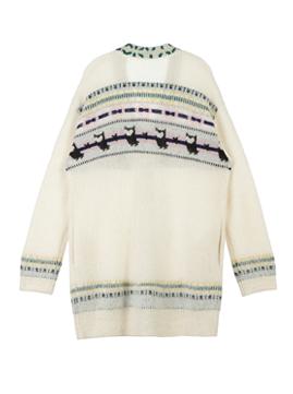 Nordic Chouette Jacquard Long Cardigan
