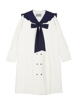 Frill Sailor Collar Ribbon Dress